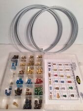"158 PC BRAKE LINE FITTING  Assortment + 3/16"" and 1/4"" 25' Steel Brake Lines"
