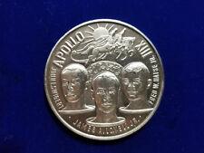 Apollo 13 Commemorative 1970 Vintage Silver Medal Art Round - .999 Fine