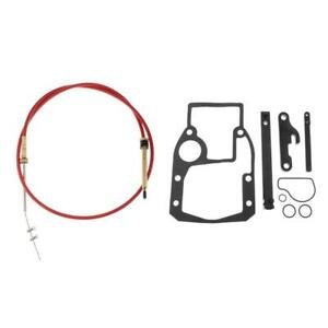 Shift Cable Kit Adjustment Tools Mounting Gasket Set Fits OMC 987661 1986-1993