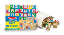 WOODEN ABC 123 BLOCKS # 1900  50 Wooden Blocks ~ Melissa and Doug