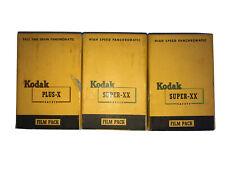 Kodak 1 Plus-X & 2 Super-XX Safety Film Packs 12 Exp 2-1/4 x 3-1/4 1954 SEALED