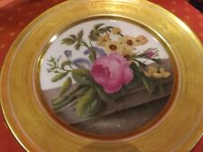Piatto impero francese vecchia Parigi in porcellana dipinto a mano