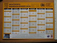 In Erinnerung /in Memorian 2016 - Kalender Halbjahresübersicht - 29,5 x 21 cm