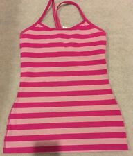 Lululemon Stripe Pink Yoga Tank Top - 6 US / 10 AUS