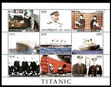SELLOS TEMA TITANIC MALI  1998 1381/89 9v .MH