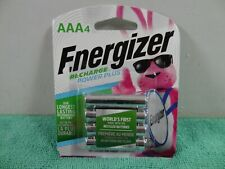 NEW ENERGIZER AAA Rechargeable Power Plus NiMH Batteries  4-Pack