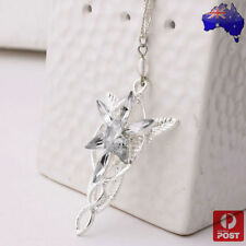 Lord Of The Rings Silver Arwen Evenstar Charm Necklace The Hobbit LOTR Star
