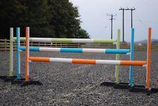 3PAIRS OF PONY/HORSE TRAINING STANDS BRISTOLSHOWJUMPS (BOG48) KEYHOLE TRACK