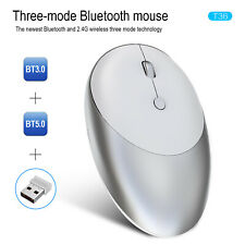 Wireless Bluetooth 5.0 Three-mode Rechargeable Mouse 2.4GHz Wireless Mouse White