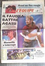 L'Equipe Journal 24/09/1991; Agassi en finale de la Coupe Davis/ Fidji/ Prost