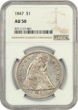 1847 $1 NGC AU50 - Liberty Seated Dollar