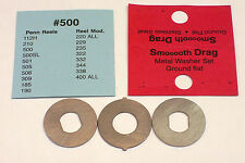 SMOOOOTH DRAG WASHERS METAL GROUND FLAT SET FITS PENN 500,112H,210, NEWELL +MORE