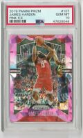 2019 Panini Prizm #107 James Harden Pink Ice Prizm PSA 10 Gem Mt Rockets