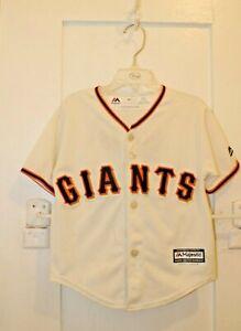 MAJESTIC San Francisco Giants Buster Posey #28 Alternate Jersey Kids Small