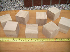"6x Wood cubes. Wooden cubes / blocks.50mm 2"" OAK not Birch"