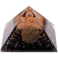 Schwarzer Turmalin Orgonit Pyramide Vajra Symbol Heilung Kristall Edelsteine
