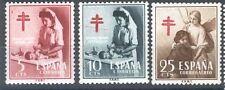 ESPAÑA SPAIN  Edifil # 1121/1123 ** MNH Pro tuberculosos