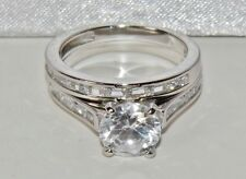 Sterling Silver (925) 2.50ct Bridal Set Ring - size L (2 Ring's)