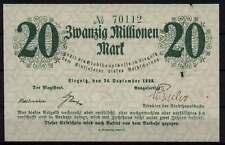 [16265]  - Notgeld LIEGNITZ/Legnica, Stadt, 20 Mio Mk, 24.09.1923, Keller 3262e,