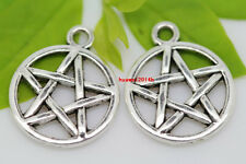 Lot 50pcs Tibet Silver Pentagram Fashion Jewelry Finding Charm Pendants 20x16mm