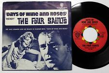DAYS OF WINE AND ROSES 45 Film Theme Four Saints w/ PS Jack Lemmon Lee Remick