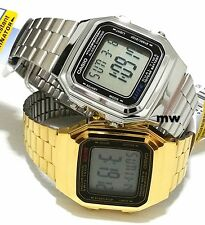 Casio Couples Pair Unisex Watch VINTAGE RETRO DIGITAL QUARTZ A-178WGA A-178WA