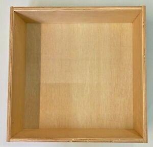 Wooden Storage Kitchen Garden Garage Draw Box Dovetail Joints 388 x 397 x 150mm