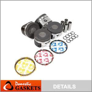 Fits 00-06 Audi Volkswagen 1.8L Turbocharged Piston Rings Set (19mm Wrist Pins)