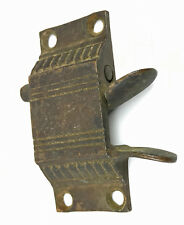 Vintage Rare Brass Metal Ornate Icebox Thumb Latch squeeze handle latch