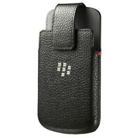 BLACKBERRY Q10 OEM LEATHER CASE HOLSTER POUCH SWIVEL BELT CLIP (ACC-50879-301)