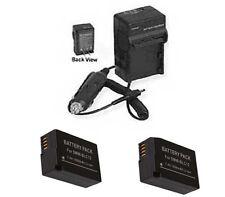 2X Batteries BP-DC12 BP-DC12-E BP-DC12-U + Charger for Leica V-LUX 4 & Q Typ116