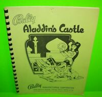 Aladdins Castle ORIGINAL Bally Pinball Machine Game Service Repair Manual 1976