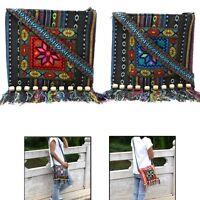 Unique Vintage Ethnic Shoulder Bag Embroidery Boho Hippie Tassel Tote Messenger