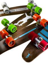 """Mini Cruiser Skateboard Complete Wooden Penny Maple 22"""" Board Ridge Dark Dye"""
