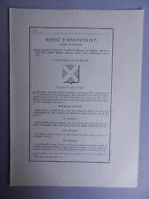 Généalogie - Famille : Rehez d'Issoncourt.