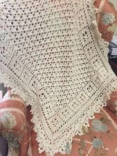 Crocheted Sweet Dreams Baby Blanket Ivory - Yarn Bee Yarn Soo Soft!!