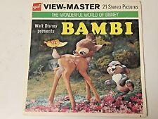 BAMBI  ViewMaster set of 3  Reels