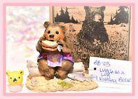 ❤️Wee Forest Folk BB-03 Lunch on a Log Hawaiian Bear FairyTales SPECIAL LE 100❤️