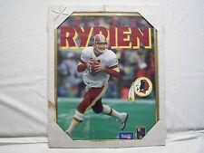 Mark Rypien Washington Redskins Logo 1992 Bryan Yablonsky Photo Framed 16x20