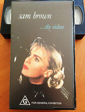SAM BROWN - THE VIDEOS - 1990 VHS