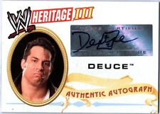 WWE Deuce 2007 Topps Heritage III Authentic Autograph Card