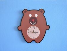 Cute Little Bear Cartoon Wall Clock
