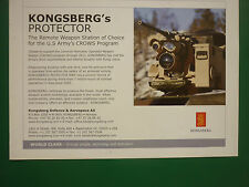 10/07 PUB KONGSBERG DEFENCE AEROSPACE NORWAY PROTECTOR REMOTE WEAPON US ARMY AD