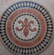 "Marble Travertine Tile Medallion mosaic  Stone 24""  #61b"