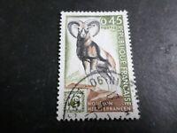 FRANCE 1969, timbre 1613 MOUFLON, ANIMAUX, oblitéré, VF used STAMP