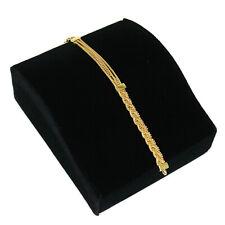 Black Velvet Bracelet Jewelry Display Holder Medium Contour Bracelet Stand