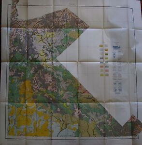 Folded Soil Survey Map St. Francois County Missouri Bonneterre Bismarck 1918