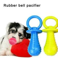 Pet Rubber Pacifier Dog Toy Interactive Rubber Soother N1I5 C4I8 J1U6 Q6S5
