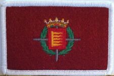 Valladolid, Spain / Espana Flag Embroidery Iron-On  Patch Emblem White Border