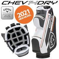 Callaway CHEV 14 DRY Waterproof Golf Cart Bag Charcoal/White/Orange - NEW! 2021